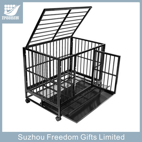 30'' 36 '' 42''Heavy duty metal portable dog cages with wheels