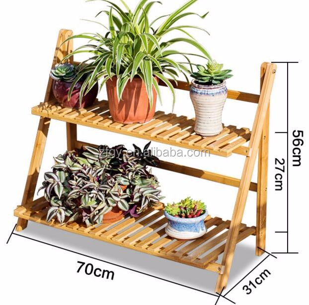 2 tier wooden corner standing plant display stand shelf buy plant stand wooden plant stand - Corner shelf for plants ...