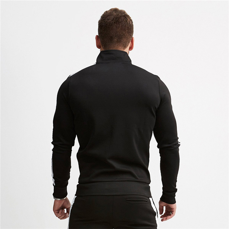 China Competitive Price Breathable Custom Unbranded Black Color Fitness Sportswear Men