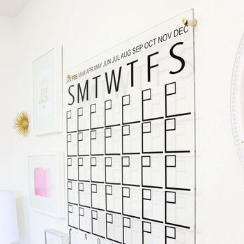 New Design Office Supplies Home Decor Diy Acrylic Wall Calendar Product On Alibaba