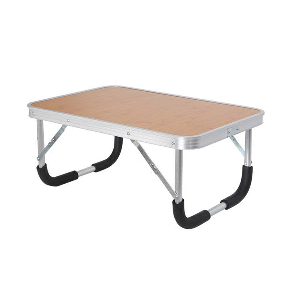 MKKM Lazy Table- Foldable Laptop Bed Table for Game, Portable Standing Desk, Kid Floor Low Table, Breakfast Tray, Wooden Picnic Table, Multipurpose in Dorm, Home,Office, Park, Garden 604030Cm Save