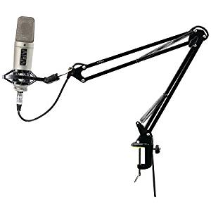 PYLE PRO PMKSH01 Universal Table Clamp Boom Shock Microphone Mount