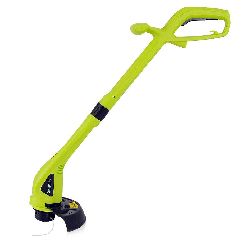 "Electric Weed Wacker Trimmer Edger - 21"" 2.3A High Powered Handheld Weed Wacker Grass Eater, 8.7"" String Size, Cutting Guard - Lawn, Garden, Yard Use - SereneLife PSLWEWCKR22"