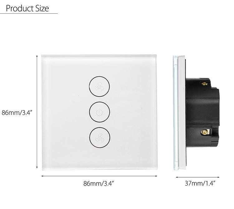Eu Uk Standard For Wall Mounted Wifi Touch Switch Panels Smart Fan Switch -  Buy Wifi Smart Touch Switch,Wifi Fan Switch,Smart Fan Switch Product on