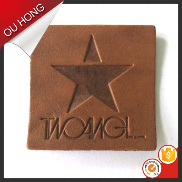 China Supply High Quality Wholesale Custom Leather Label Patch for Garment