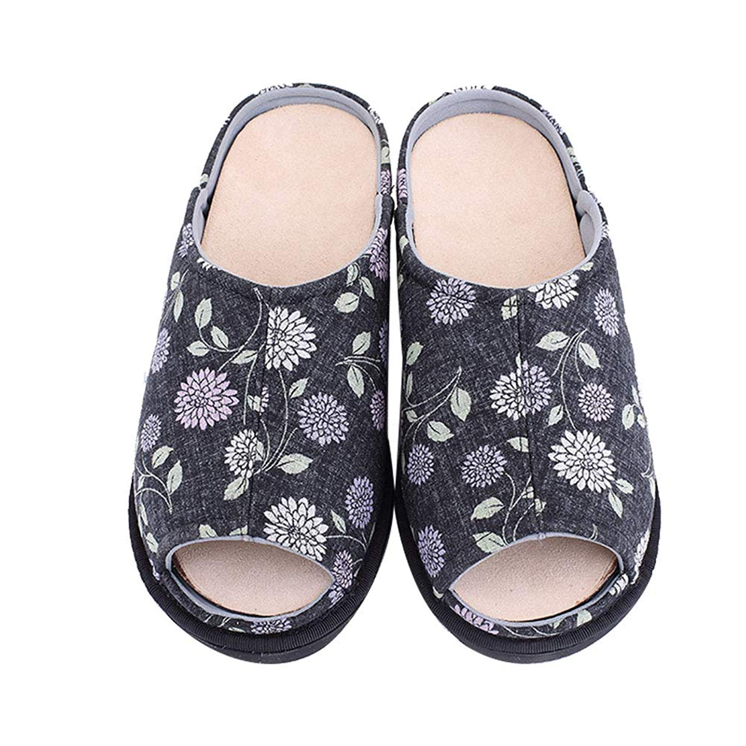 0a879340a421 Get Quotations · Women s Extra Extra Wide Slippers