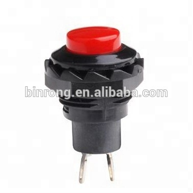 R13-502 12mm Plastic dome push button <strong>switch</strong> Momentary OFF-(ON)