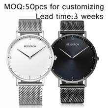 New products 2017 create your own brand 316l stainless steel waterproof japan movement quartz mature men watch