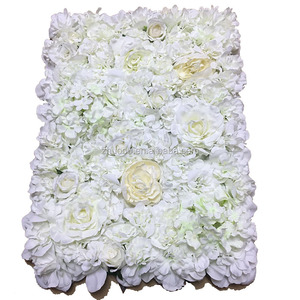 ZERO New Design Hydrangea Plus Rose Silk Flower Background Wedding Artificial Flower Wall Backdrop