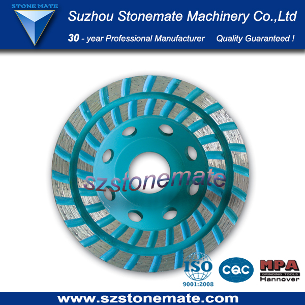 SWS double cup shaped wheel for grinding and polishing materials