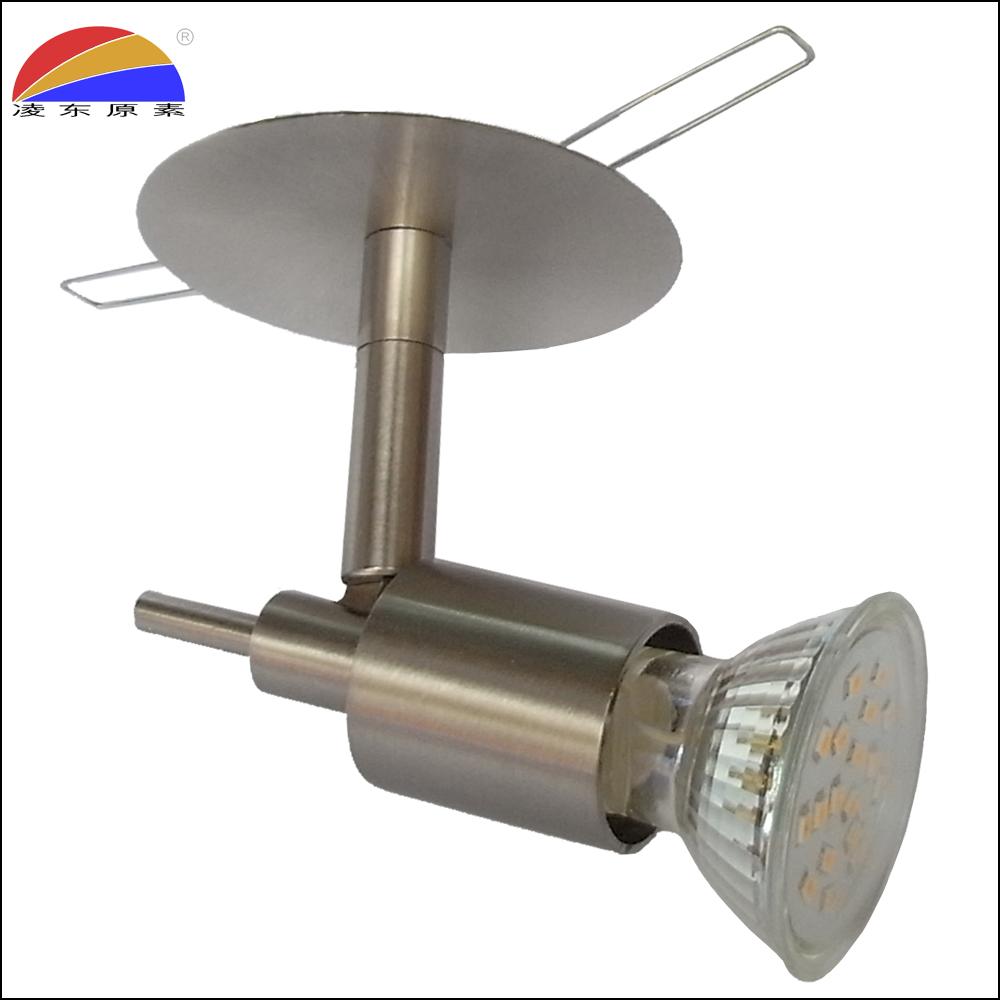 Angle adjustable swivel spotlight spot light fixture frame fit GU10 LED bulb
