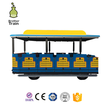 Manufacturer Preferential supply rides park trackless train 28 carriages sale