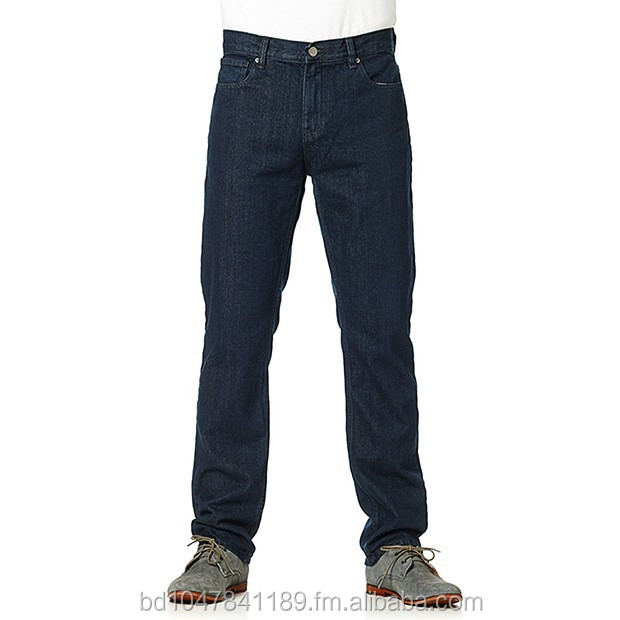 Mens Slim Straight Jean - Blue Black 2015 new style wholesale hot pants from Bangladesh supplier OEM service