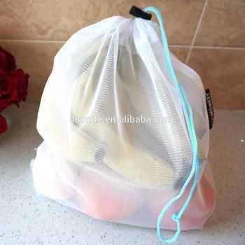 Thick and easy wash mesh grocery shopping bag