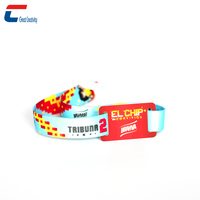 Low Price Festival Ticket Use MIFARE 1K RFID Woven Wristband