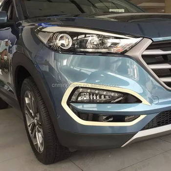 China Manufacture Abs Chrome Front Foglight Cover For 2015 Hyundai Tucson  Car Accessories - Buy Front Fog Light Cover For Hyundai Tucson,Chrome Front