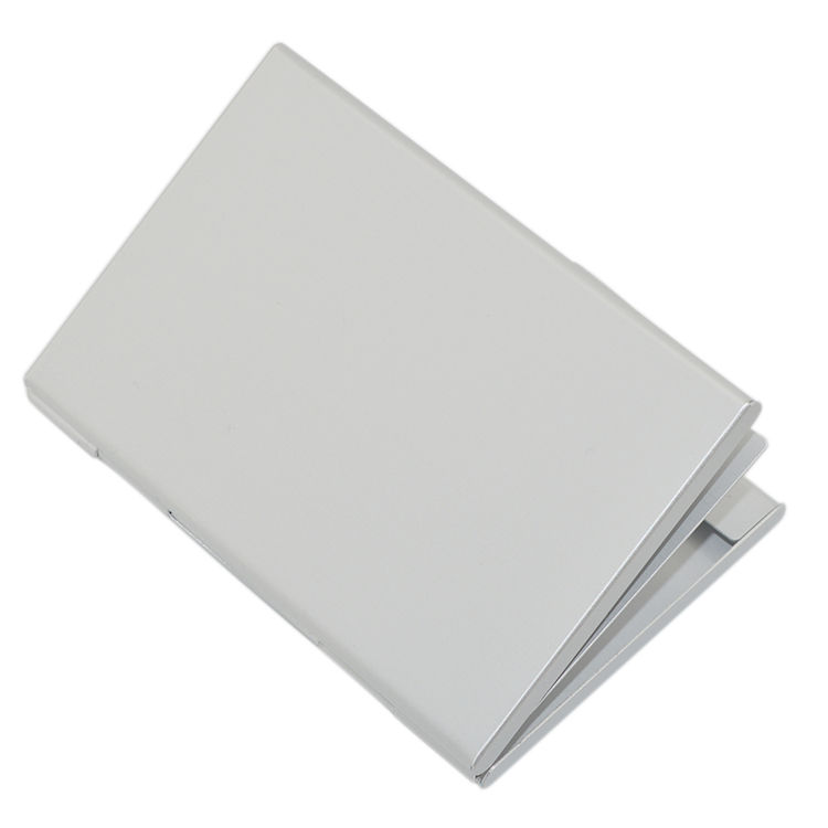 Reasonable price corporation gift simple white aluminum rfid blocking card case