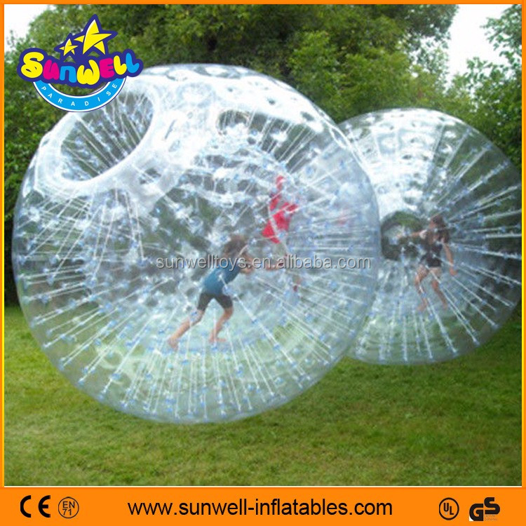 1.0mm PVC/TPU High quality Inflatable Zorb Ball, inflatable body zorb ball,Giant Human Sized Hamster Ball For Sale