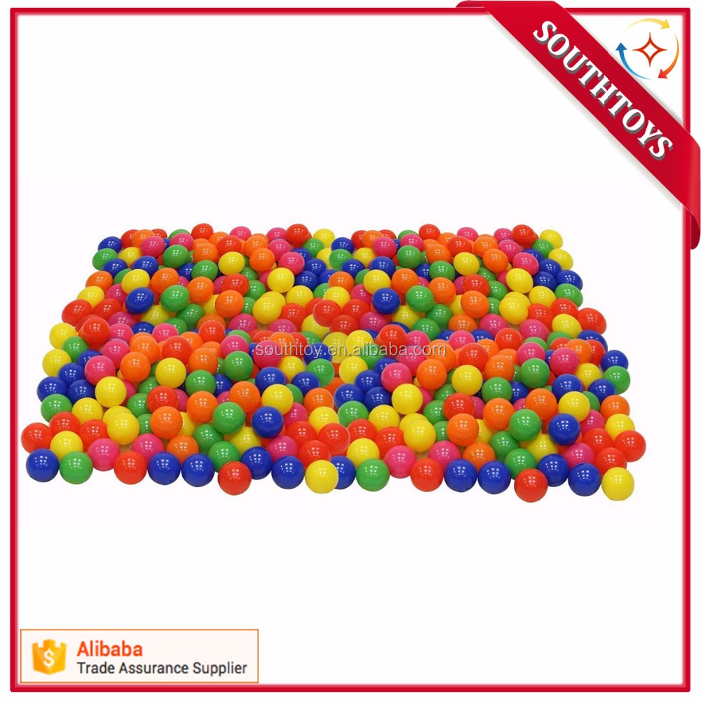 wholesale pit ball Phthalate Free BPA Free Crush Proof Plastic ocean soft ball, colorful sea ball- 5-8CM difference size