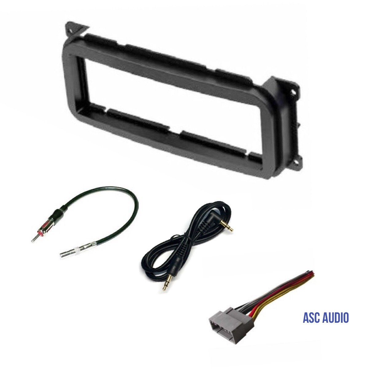 Single Din Car Stereo Dash Kit, Wire Harness, Antenna Adapter for some Dodge 02-07 Caravan, 02-04 Dakota, 02-03 Durango, 02-05 Intrepid, 02-06 Neon, 02-05 Ram 1500, 03-05 Ram 2500/3500, 02-06 Stratus