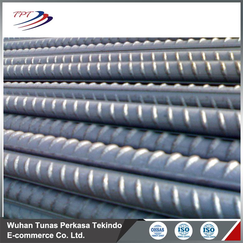 Hot rolled deformed steel ribbed bar for concrete construction