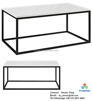 Faux Marble Coffee Table Wood Coffee Table With Box Frame Buy - Box frame coffee table marble top