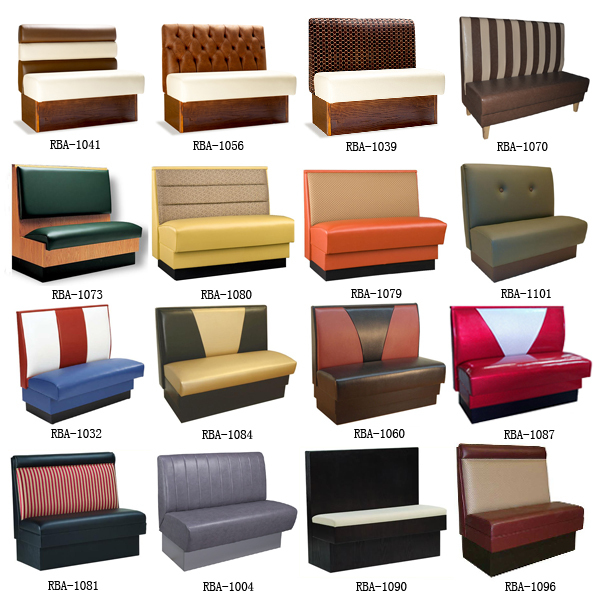 10913 Modern Restaurant Booth Seating Fabric Double Side