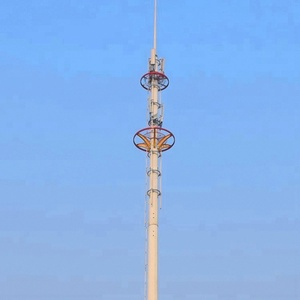 Hot-sale self supporting galvanized pole telecommunication monopole tower