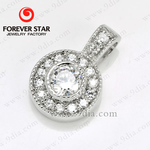 925 silver jewlery sterling pendants with cz gemstones