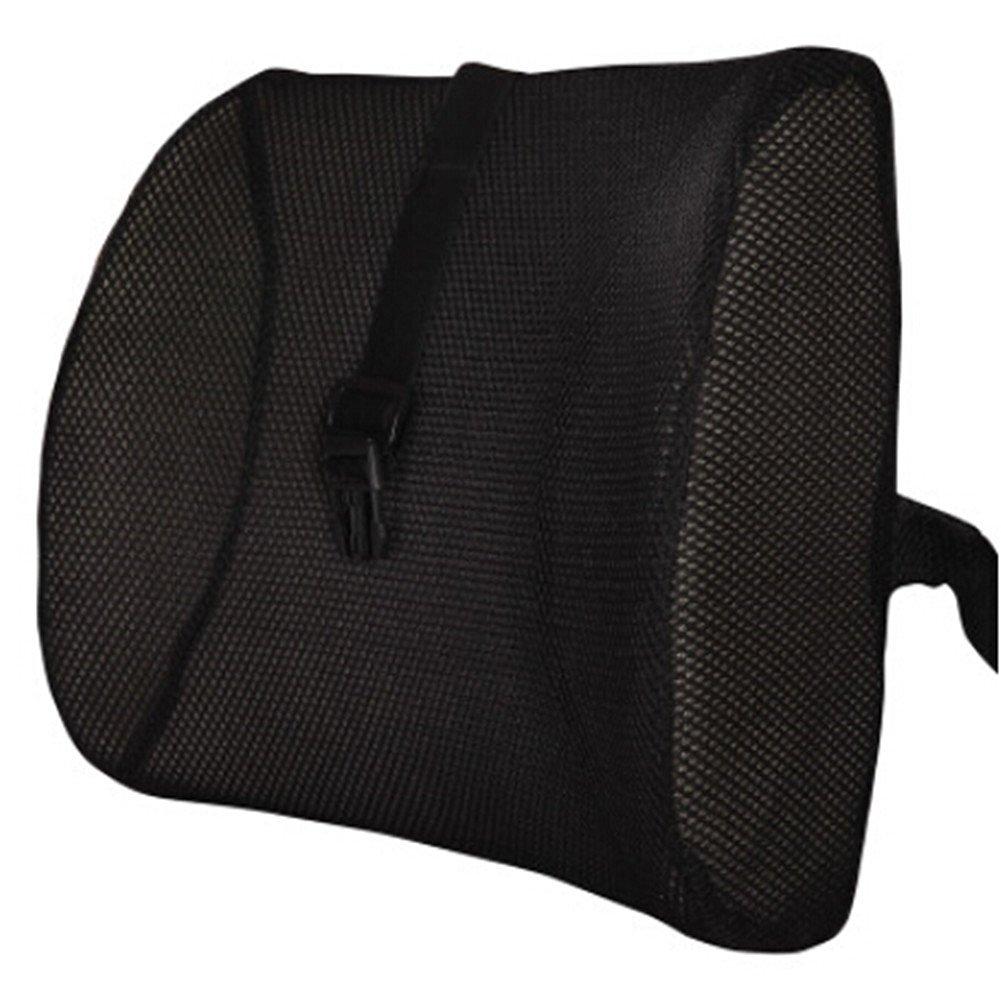 Moyishi Fashion Black High Resilient Memory Foam Seat Back Lumbar Cushion Support Pillow Car Office Chair