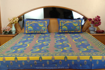 Vintage Daily Use Casual Printed Cotton Bedsheets Printed Jaipuri Bedsheets
