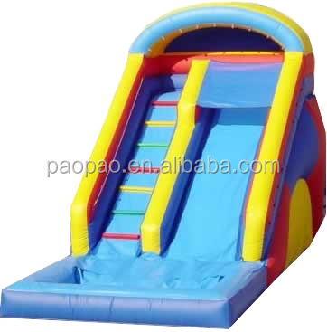 inflatable wet slide/ commercial grade inflatable water slide with pool/WATERPARK