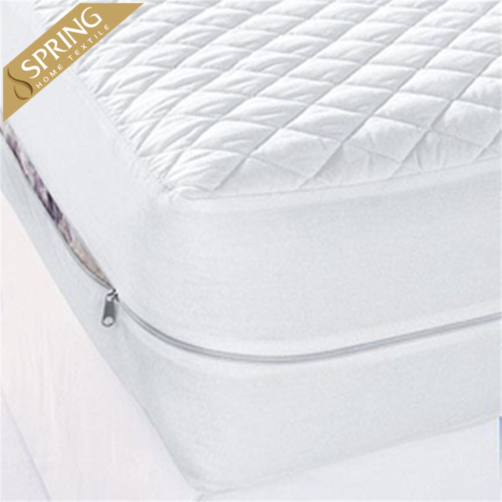 2 Queen Size Mattress Protector Waterproof Soft Anti Bug Zippered Mattress Cover