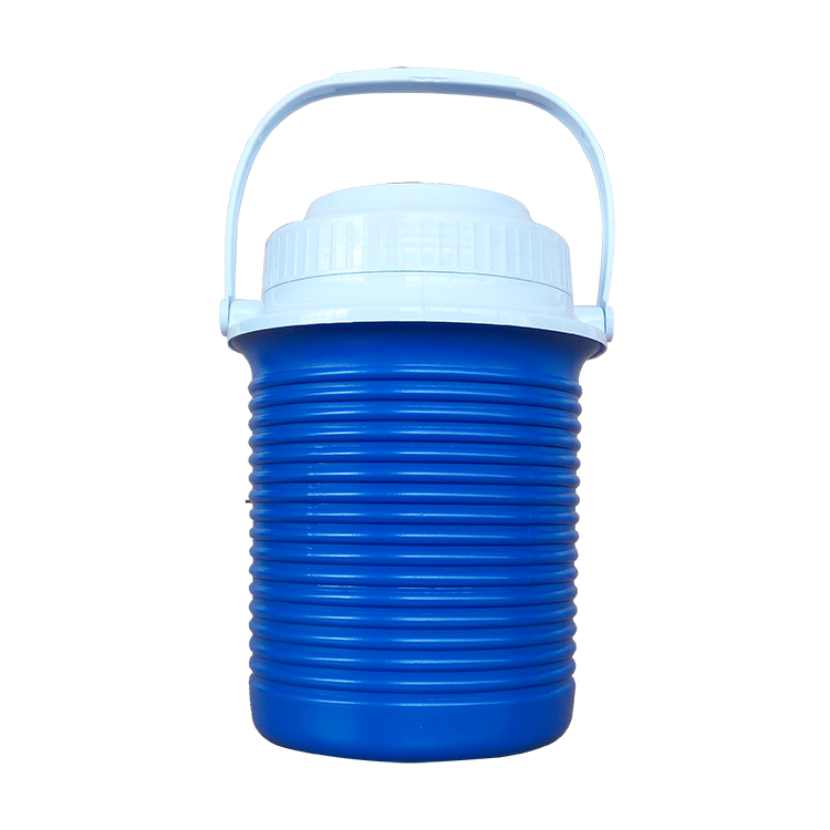 2.3L Blue portable Plastic Insulation outdoor wine Ice bucket,