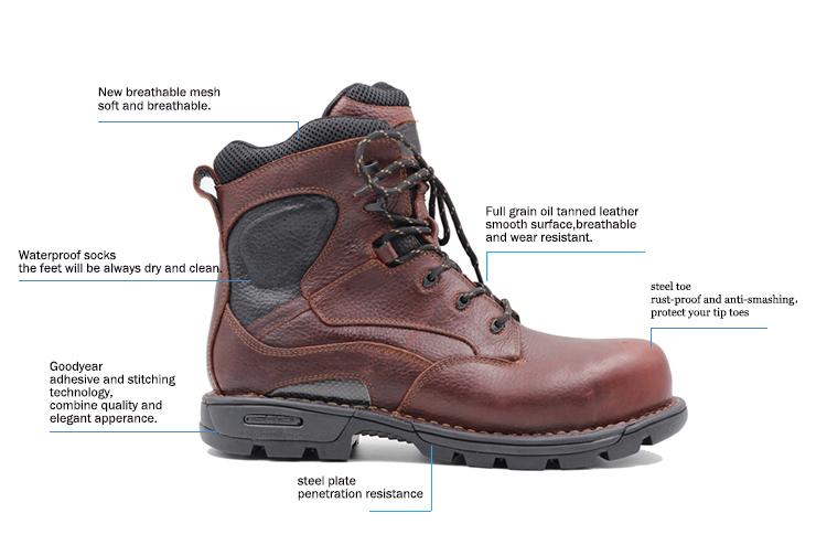 New High QualityLow Cut Kitchen Steel Bottom Waterproof Mens Winter Work  Boots With S3