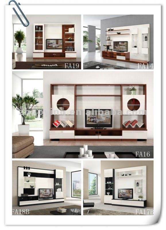Lcd Tv Furnitures Designs Ideas: Modern Living Room Lcd Tv Stand Wooden Design Fa18b