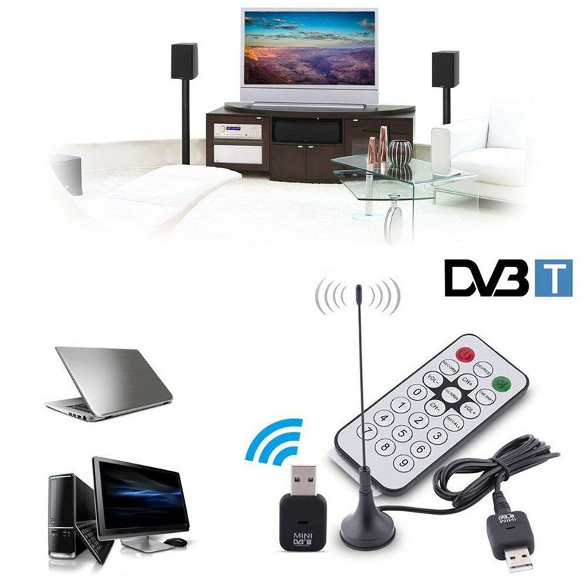 Mini USB 2.0 Dvb-t SDR + DAB + FM Sintonizzatore HDTV TV Stick Antenna Dongle Stick Video Broadcasting Registrazione antena Ricevitore DVBT