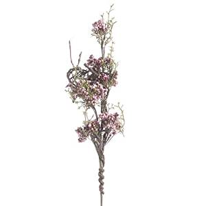 Factory Direct Craft Group of 3 Artificial Hues of Pink Berry and Cedar Twig Stems for Holiday and Home Decor