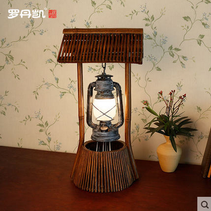 Antique Bamboo Glass Lamp Shade For Table Lamp For Living Room ...