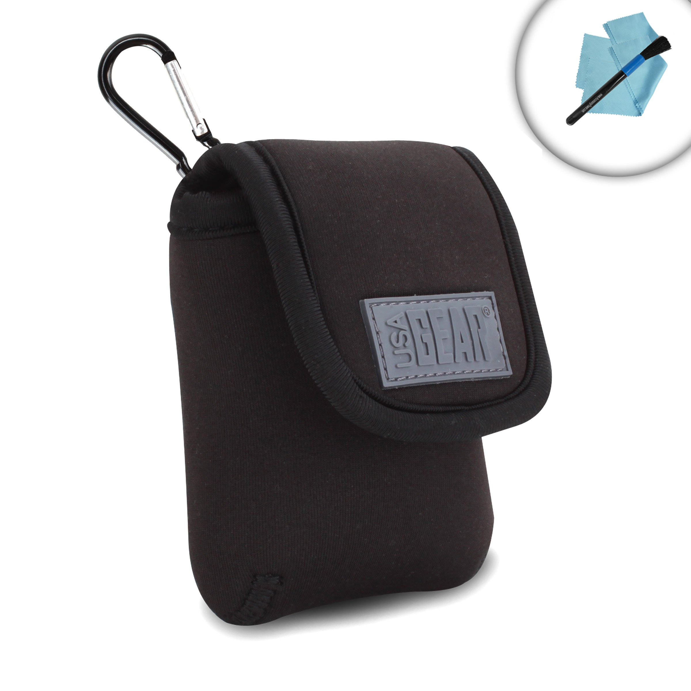 a8fbd00818b Get Quotations · USA GEAR Handheld GPS Navigation Case with Carabiner Clip  and Belt Loop for Bad Elf 2200
