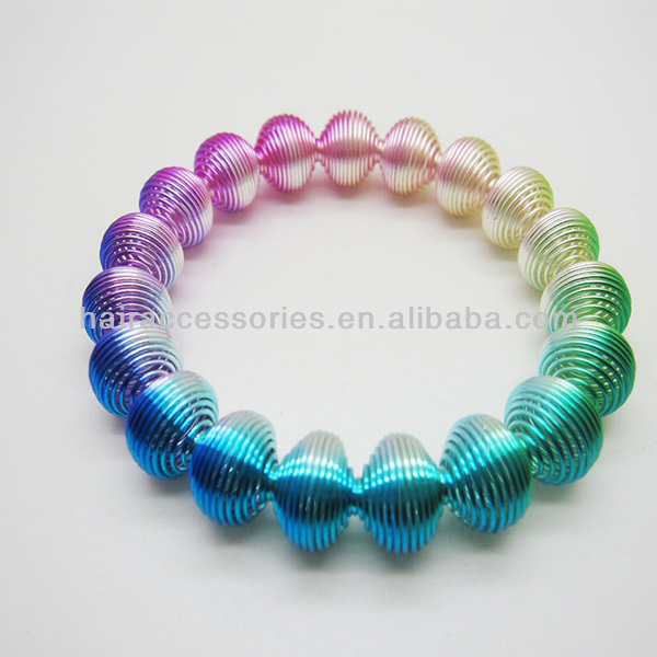 Colorful Coil Spring Bracelets Metal Bracelet Wire Bangle Product On Alibaba