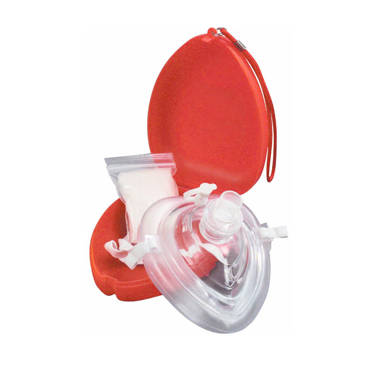 CE ISO FDA Approved CPR01 Red PVC CPR Res-Cue Adult and Infant Face Masks
