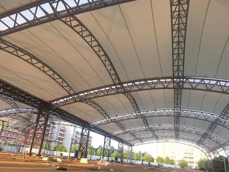 Lattice roof beams wooden girder metal lattice for Prefabricated roof trusses