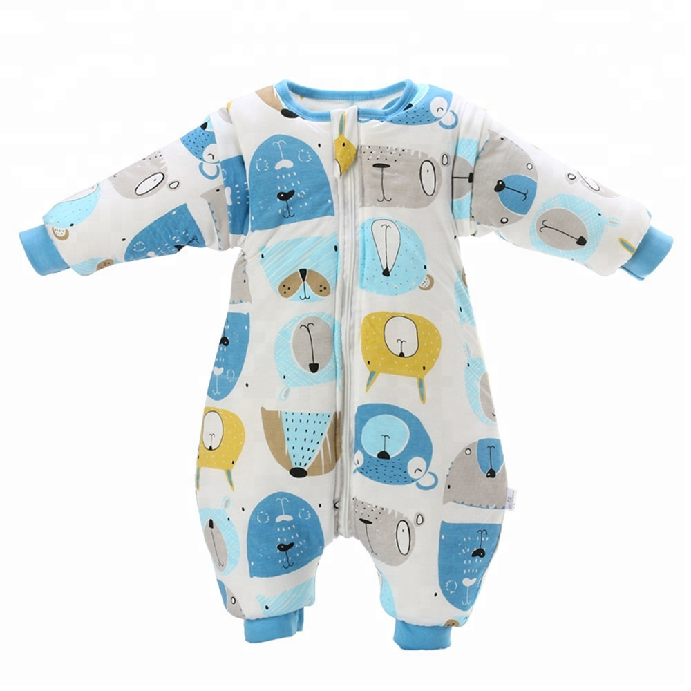Baby Sleeping Bag with Feet Winter Wearable Blanket with Legs Sleeping Sack for Toddler Thicken 2.5 TOG (Large 80~110cm Length)