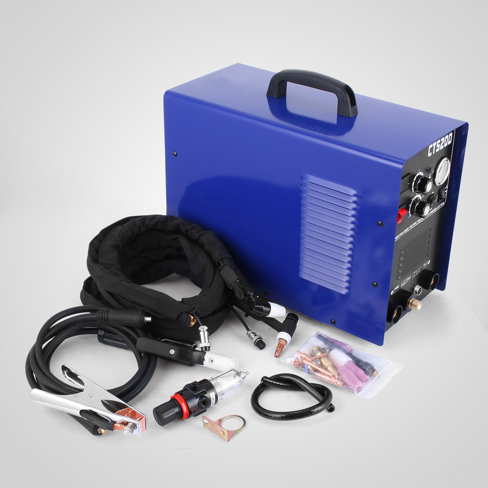 CT520D Plasma Cutter Tig Stick Welder 3 in 1 Combo Welding Machine, 50Amp Air Plasma Cutter, 200A TIG/ Stick Welder