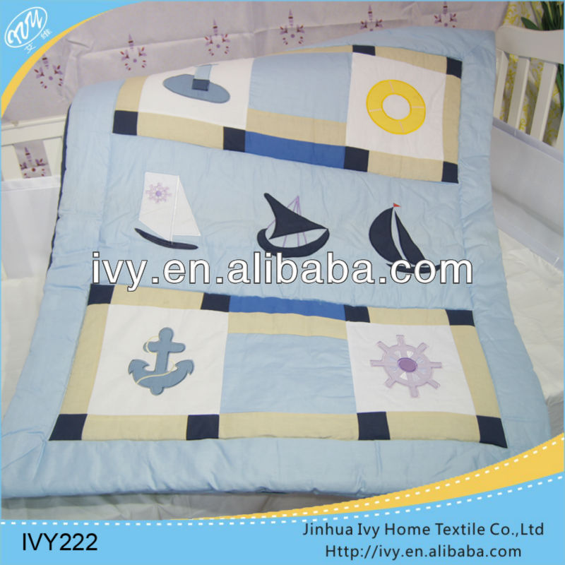 Cartoon kids quilt set for baby sleep tent