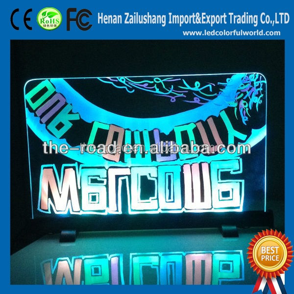 Most Popular Items New Electronic Products Indoor Neon Light Small Ad Led Writing Board For Entrance Notice Mark & Warning Signs