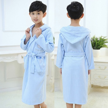 456a359341 Wholesale kids spa robes super soft customized cotton hooded bathrobes
