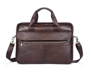 OEM office business real leather handbag/briefcase/laptop bag for men , factory price directly
