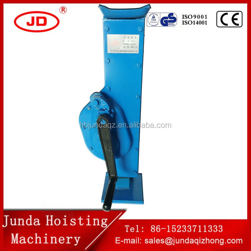 easy operation high performance mechanical Jacks crank handle mechanical machinery Jacks ratchet steel jack